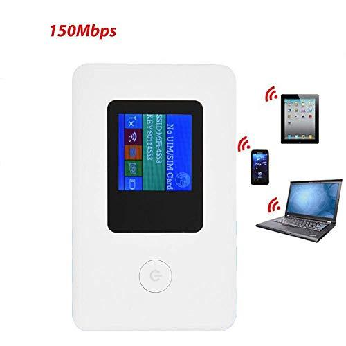 Vbestlife 4G WiFi Hotspot Draagbare Router, 2,4 GHz 150 Mbps 4G LTE Draagbare WLAN Draadloze Netwerk Router SIM Kaarttype voor Reizen, Wereldwijd Zakelijk Reizen