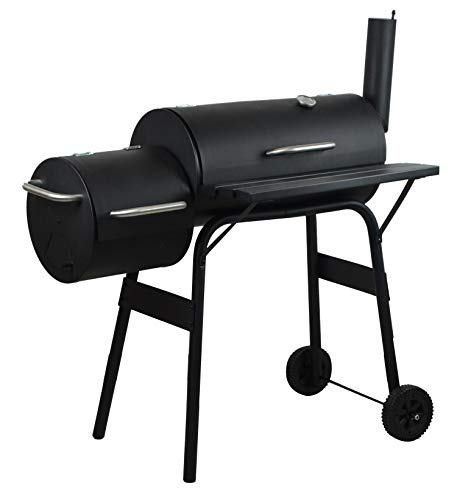 Photo of Gr8 Garden Large Outdoor Charcoal Barrel Drum BBQ Grill Garden Barbecue Outdoor Patio Smoker BBQ Barbeque Durable Portable With Wheels