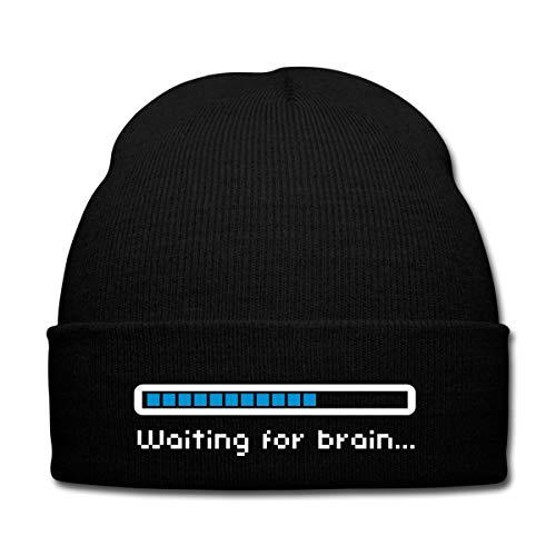 Spreadshirt Geek Waiting for Brain Bonnet d'hiver, Noir