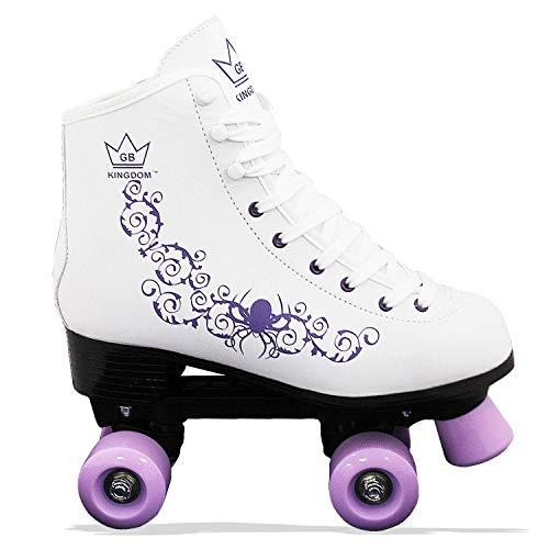 Kingdom GB Vector v2 4-Rollen Skaten Rollschuhe (Weiß/lila, 33 EU)