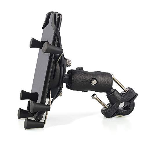 yywl Porta Cellulare Bici Supporto per Telefono per Moto Supporto per Telefono per Bicicletta Supporto per Manubrio per Bici Slot per schede per Supporto Motore per 3,5-6,3 Pollici