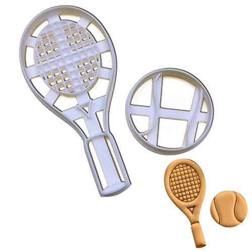 Bakerlogy Tennisschläger und Bälle Ausstechform, 1 Teil