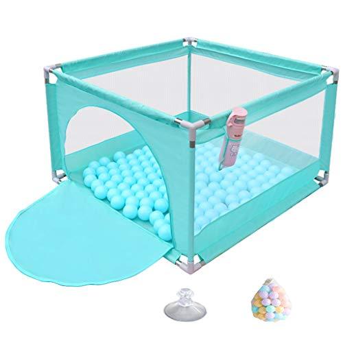 Parc bebe Barrière de sécurité pour Enfants, barrière de Parc en Plein air de Jeu de sécurité extérieure intérieure bébé Pliable pour Enfants, diviseur de pièce, Bleu