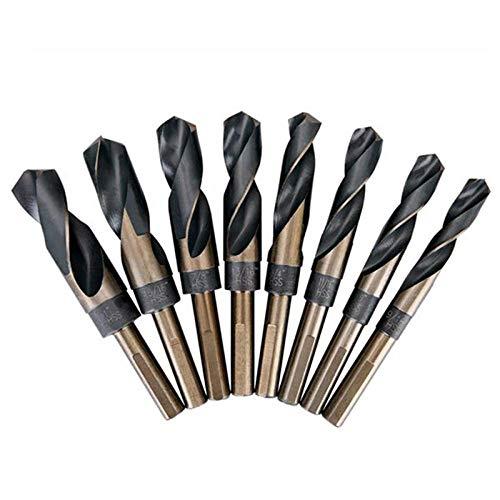 Drill Bit 8Pcs Lathe Reduced 1/2Inch Shank HSS Bench Twist Drill Bit Set CNC Metric High Speed Steel Shank Twist Drill