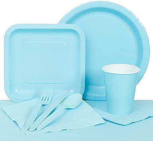 presentando toda la última moda de la calle Pastel azul Party Tableware Set Set Set by Shindigz  barato en línea