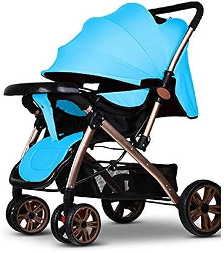 Baby Kinderwagen, Kinderwagen leichte Falten Neugeborenen sitzen liegen 0-3 Jahre alt Baby Kind bidirektionale bb Kinder Trolley