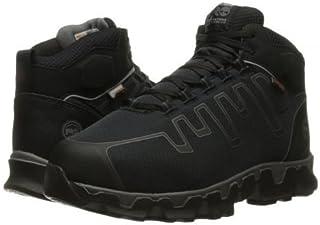 Timberland PRO(ティンバーランド) メンズ 男性用 シューズ 靴 ブーツ 安全靴 ワーカーブーツ Powertrain Alloy Toe Met Guard EH - Black Synthetic [並行輸入品]