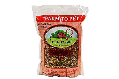 Little Farmer Products Blue Corn Fixins, Farm to Pet All Natural Chicken Poultry Treat, USA, Mealworms & Chili Peppers, 3 lbs