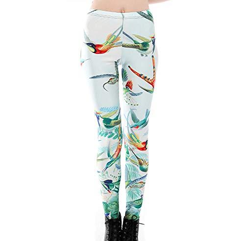 bayrick Celebridad de Internet Mismo Estilo,Pantalones de Yoga de impresión Digital de Pájaro 3D-A_XXXXL