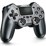 TERIOS Controller wireless compatibile con PS-4, controller di gioco per PS-4 Pro, Slim, Altoparlante integrato e jack per cuffie stereo, Programmazione avanzata dei pulsanti, Turbo