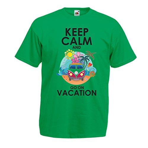 Männer T-Shirt Gehen Sie auf Urlaub, Nette Outfits, Strandkleidung, Resortabnutzung (Small Grün Mehrfarben)