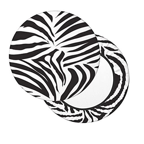 Funda de Asiento para Silla Estampado de Vaca Animal Blanco y Negro con temática Material Ploiéster Duradero Fundas Decorativas para sillas de Comedor Funda para Silla de Bar 12-14in
