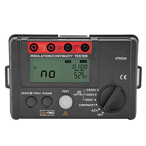 Testing Meter Handheld Megohmmeter Resistance Tester Auto Range Data Logger Insulation Tester for Industry for Indoor Outdoor for Electrician