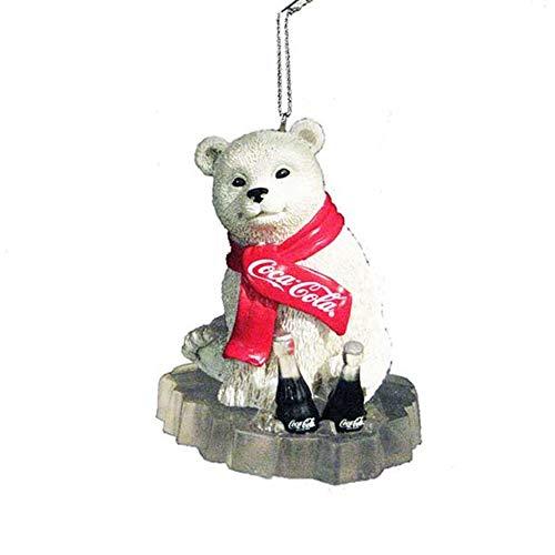 24de oso polar con bufanda y 'Coca-Cola coca cola botellas de hielo de Navidad