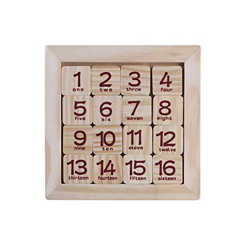 AOXING Juego de rompecabezas de 15 números de diapositivas interesante, juego de lógica de clasificación de formas para laberinto, juguetes educativos para niños de 3, 4, 5, 6 años