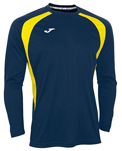 Joma 100015.309 - Camiseta de equipación de Manga Larga para Hombre, Color Azul Marino/Amarillo, Talla 6XS-5XS