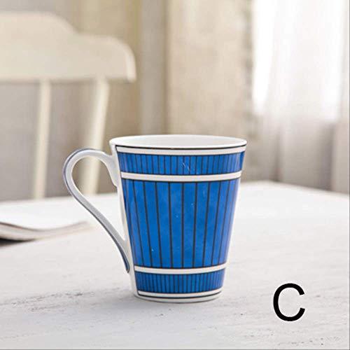 Europäischer Stil Bone China Kaffeebecher High Grade Bone China Nachmittag Teetassen Keramik Becher 300 Ml Für Kaffee Milch Schwarz 301-400ml c