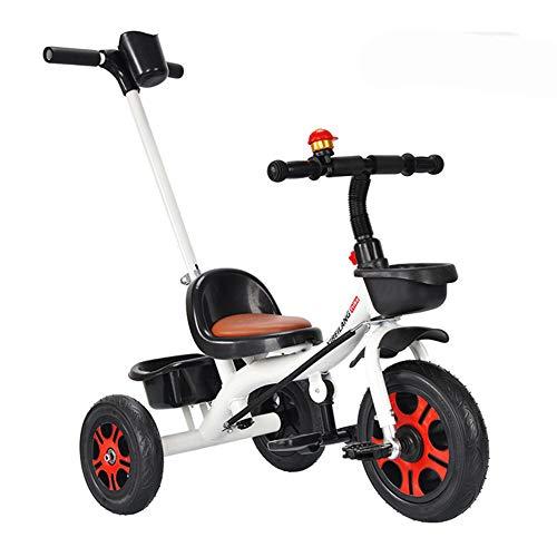 Coverp dreirädriges Kinderfahrrad, Kleinkind, Kinderwagen, selbstfahrender Roller, Roller,White