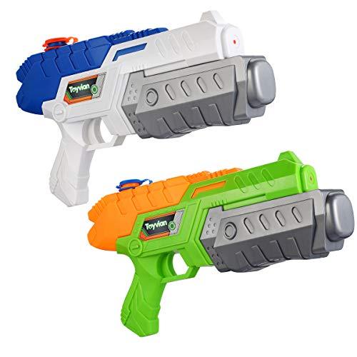 Toyvian Super Soaker Wasserpistolen, Water Soaker Blaster 160CC mit hoher Kapazität und Over 35 Fuß Schießstand, Wasserspiele im Freien Spritzspielzeug für Kinder Erwachsene
