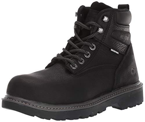 """Wolverine womens Floorhand Steel-toe 6"""" Work Industrial Boot, Black, 9 Wide US - W201153"""