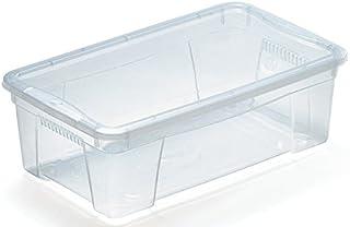 M Home Caja de Almacenaje 2 5.7 l, Translúcido, 35x21x12 cm