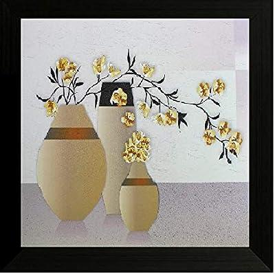 SAF Flower Floral Painting (35 X 2 X 35 Cms) SANF3932