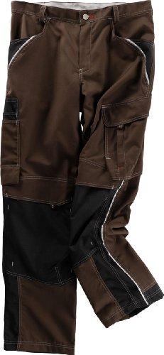 Beb Bund-Hose Arbeits-Hose INFLAME - chocolate brown/schwarz - Größe: 62