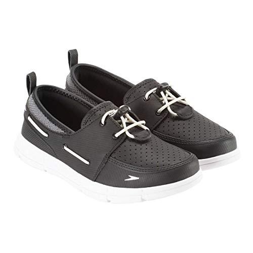 Speedo. Women's Port Lightweight Breathable Water Shoe (Black/Grey/White, 10)