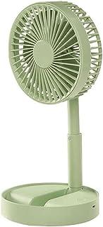 Desktop USB Recargable Mini Fan Radiador 3 Velocidad Ventilador Ventilador (Color : Green)