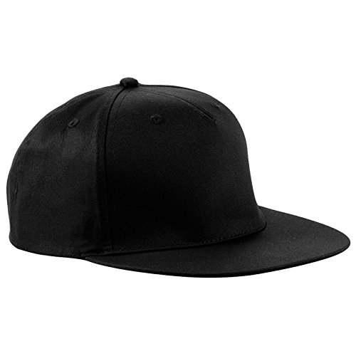 Beechfield - 5 Panel snapback rapper cap - Black - One Size EU / UK