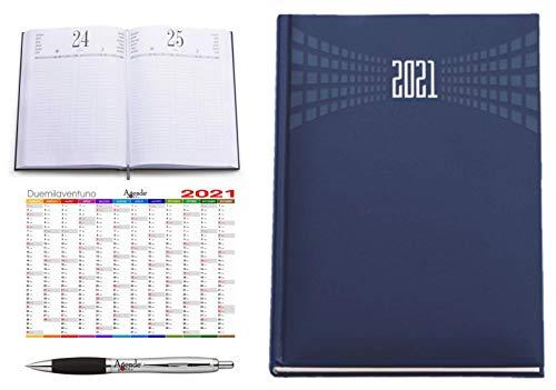 Agenda ristorante hotel prenotazioni AGENDEPOINT.IT A4 2021 giornaliera omaggio calendario annuale e penna MATRA BLU