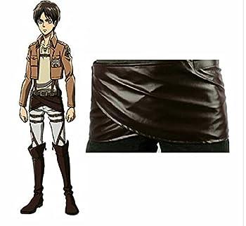 Attack on Titan Cosplay Shingeki no Kyojin Leather Skirt Hookshot Belt Costume  2X-large