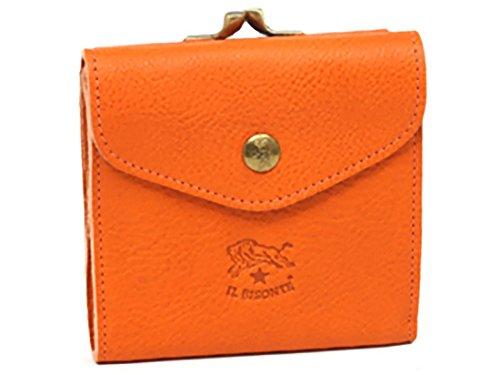 [イルビゾンテ] IL BISONTE C0423P 2つ折財布 レディース レザー 166 ORANGE/GOLD オレンジ/ゴールド 革 [並行輸入品]