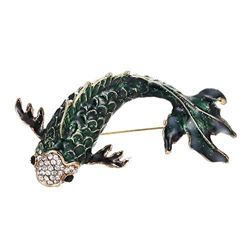 RelaxLife Broszka dostępna czerwona emalia ryba broszka duża rybka broszka dla kobiet żywa karp pins Big Fashion Vintage akcesoria dla zwierząt biżuteria