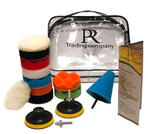 PR trading company polijstopzetset voor boormachine en accuschroevendraaier - polijstpad voor het wassen, polijsten, verzegelen - polijstschijven in verschillende hardheden (8,00 cm)
