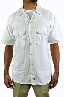 ディッキーズ 半袖 ワークシャツ Dickes 白 ホワイト メンズ 男女兼用 大きい ボタンダウン sb37