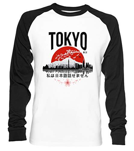 Tokio - Yo Dont Hablar Japonés Unisex Camiseta De Béisbol Manga Larga Hombre Mujer Blanca Negra