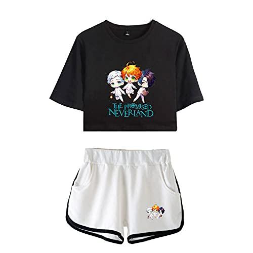 ZOSUO Camiseta y Pantalones Cortos de Anime The Promised Neverland Traje de...