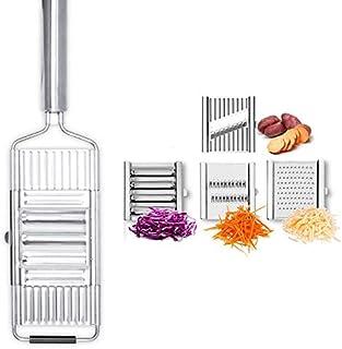 4 en 1 Coupe légume, Multifonction coupe-fruits et légumes manuel, Coupe-légumes inoxydable, Trancheuses à Mandoline,Râpe ...
