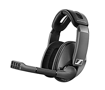 Sennheiser GSP 370 Over-Ear Wireless Gaming Headset Low-Latency Bluetooth,Noise-Cancelling Mic Flip-to-Mute Audio Presets - PC Mac Windows and PS4 Compatible - Black  Renewed