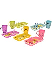 Kids Trends Smiley Gift Set of Smiley Plate & Mug for,Return Gifts for Kids Birthday Party (Pack of 6)