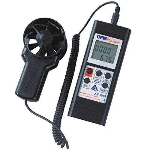 XUXUWA Windmesser, Handgerät, RS232, Ferngebläse, Anemometer, Luftmassenmesser AZ8901 für Outdoor, Segeln, Surfen, Angeln, Schießen