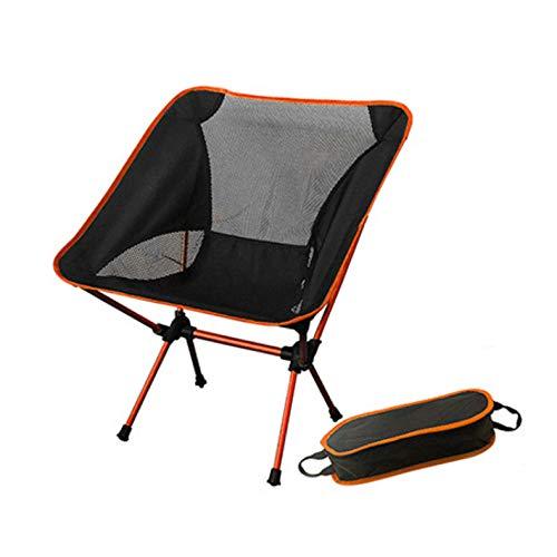 laoga 7 Optionale Farben Angeln Mond Stuhl Lila Stabil Camping Klappbare Gartenmöbel Tragbare Ultraleichte Stühle 0,9 KG-Orange