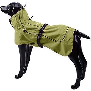 Tellpet Dog Jacket Waterproof Dog Raincoat, Reflective Dog Jacket