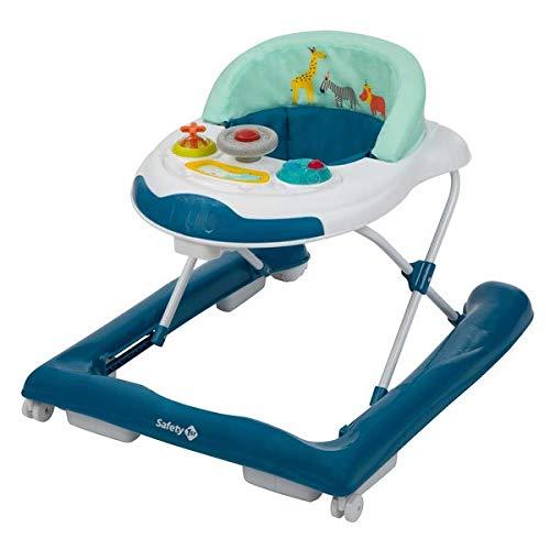 Safety 1st Bolid Andador bebé primeros pasos, 3 alturas regulables, Centro de actividades con 12 melodías, asiento acolchado, Base Antivuelco, Color Happy Day