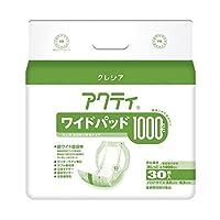 日本製紙クレシア アクティ ワイドパッド1000 30枚 4P ds-1915458