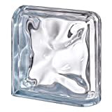 Terminal Curvo Agua Reflejos Indigo para paredes de bloques de vidrio | cm 19x19x8 | Unidad de venta 1 pieza