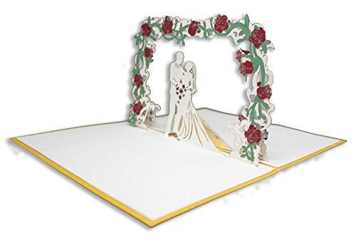 RF Distribution ORSU3631 Biglietto di Auguri con Origami Surprise, Felice Matrimonio