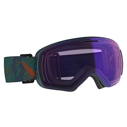 Scott LCG Evo Light Sensitive Goggle Blau-Grün, Skibrille, Größe One Size - Farbe Sombre Green - Pumpkin Orange - Light