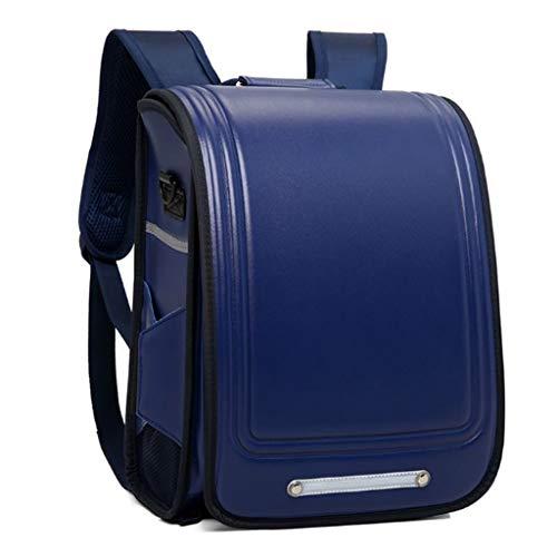 Generic Backpack Satchel Japanese Style School Bag for Girls Boys Deep Blue